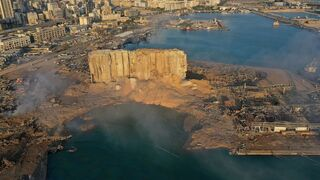 The aftermath of the massive explosion at Beirut's port