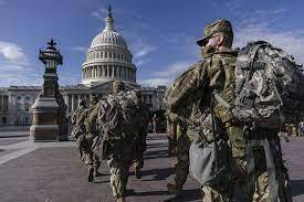U.S. National guard troops arrive in D.C. ahead of inauguration of Joe Biden for president on Wednesday