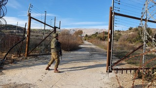 The Israeli-Syrian border on the Golan Heights