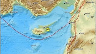 Earthquake with an estimated magnitude of 5.3 rattled Cyprus on Thursday