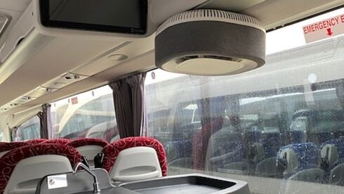 he Aura Air system installed on a bus