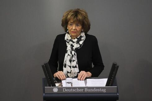 Holocaust survivor Charlotte Knobloch delivers a speech at the German Federal Parliament, Bundestag, at the Reichstag building in Berlin, Germany