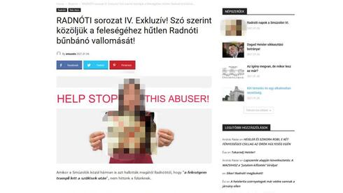The site showing a picture of one of the rabbis allegedly involved in sexual exploitation