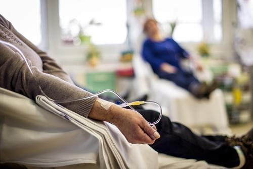 Illustrative. A cancer patient undergoing chemotherapy