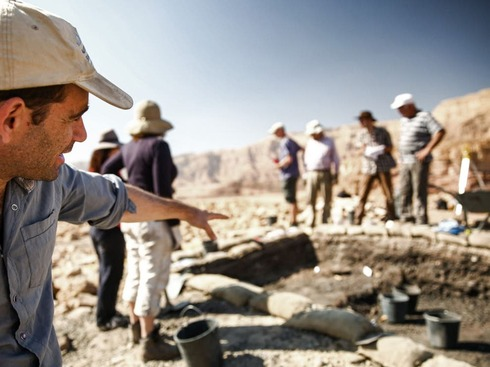 The archeological digs at Timna Valley in Southern Israel where remnants of ancient purple dye were found