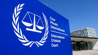 The International Criminal Court building in the Hague