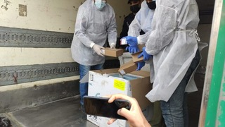 First shipment of the Russian Sputnik coronavirus vaccines arrives in Gaza
