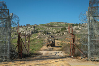 The Israeli border with Syria