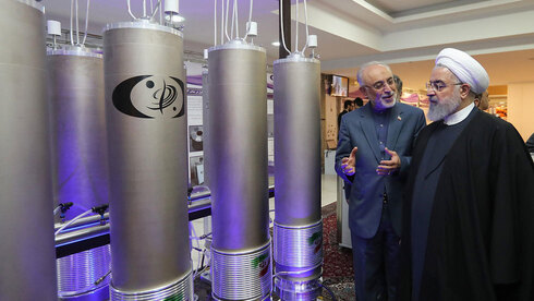 Iranian President Hassan Rouhani visits one of the country's nuclear sites