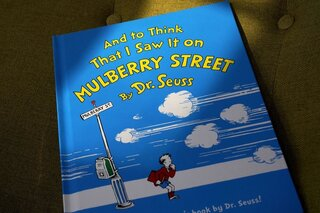 A copy of the book 'And to Think That I Saw It on Mulberry Street,' by Dr. Seuss