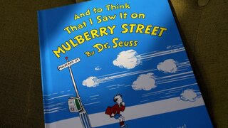 "A copy of the book ""And to Think That I Saw It on Mulberry Street,"" by Dr. Seuss"