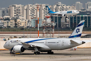El Al Dreamliner at Ben Gurion Airport