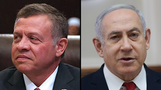 King of Jordan Abdullah II and Prime Minister Benjamin Netanyahu