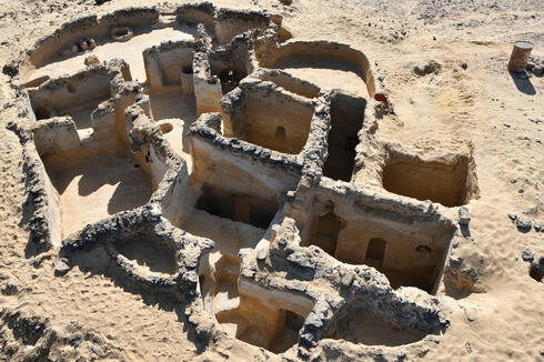 an ancient Christian structure carved in the bedrock dating back to the 5th century AD, discovered in the Tal Ganoub Qasr Al-Ajouz site