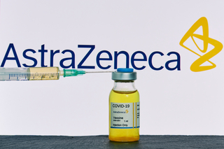 Vial of AstraZeneca's COVID-19 vaccine