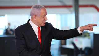 Prime Minister Benjamin Netanyahu during an interview on Ynet days before the March 23 elections