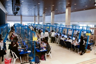 Central Elections committee tallies ballots cast in the elections for the 24th Knesset