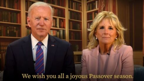 Joe and Jill Biden deliver a Passover message from the White House