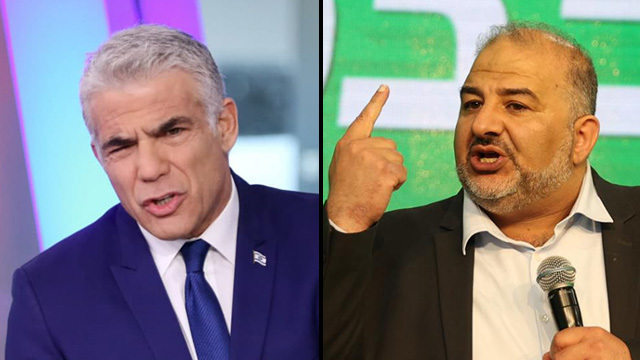 Yair Lapid and Mansour Abbas