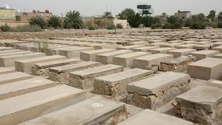 Habibiya Jewish cemetery in Baghdad is wedged between the Martyr Monument erected by ex-dictator Saddam Hussein and the restive Shiite stronghold of Sadr City