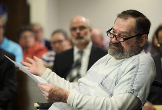 Frazier Glenn Miller Jr. in court after he killed three in Kansas Jewish Community Center attack