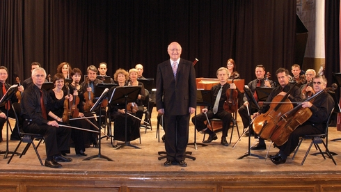 Conductor Avner Biron with the Israel Camerata Orchestra