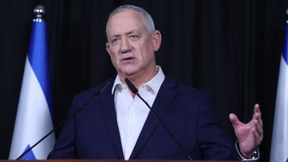 Blue & White Chairman and acting Justice Minister Benny Gantz