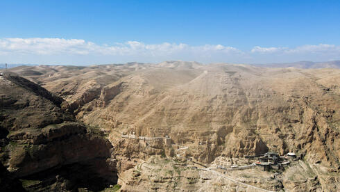 A monastery stands on the Mount of Temptation near Jericho in the Israeli-occupied West Bank
