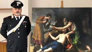 The painting was seized from the home of an antiques dealer