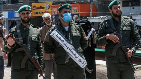Hamas security forces in Gaza