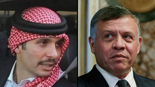 Jordan's Prince Hamza and King Abdullah II
