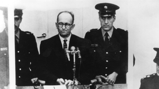 Adolf Eichmann on trial in Jerusalem in 1960