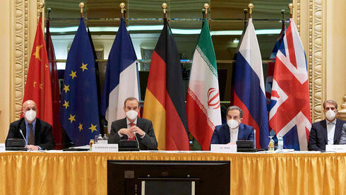Diplomats of the EU, China, Russia and Iran at the start of talks on a U.S. return to the 2015 nuclear deal, at the Grand Hotel in Vienna