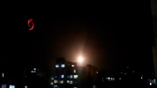 Archive photo of Israeli strike in Damascus in March