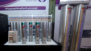 Iran showcases new advances centrifuges at Natanz just hours before the incident