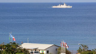 A base for U.N. peacekeepers of the United Nations Interim Force in Lebanon (UNIFIL) is pictured in Naqoura, near the Lebanese-Israeli border, southern Lebanon