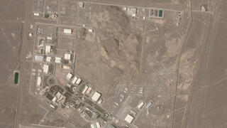 Satellite picture showing the Natanz nuclear facility in Iran