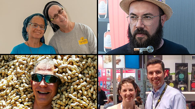 Clockwise from top left: Miri Newcome and Chaya Ben Baruch, David Zibell, Elli and Efrat Schorr and Jason Cohen
