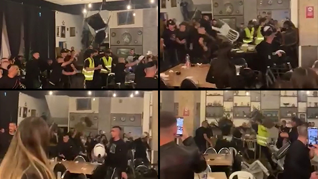 Chairs are thrown as an Independence Day party in Or Yehuda descends into violence