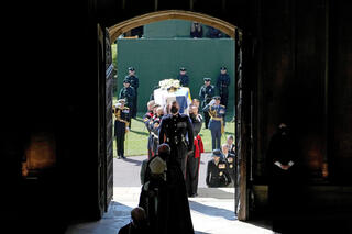 Mourners at the ceremony in Windsor Castle