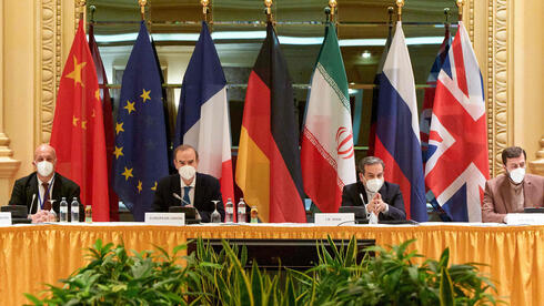 Members of 2015 Iran nuclear deal attending a meeting at the Grand Hotel of Vienna as they try to restore the pact, April 17, 2021