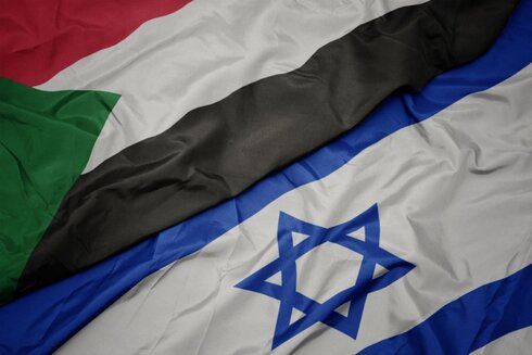 The flags of Sudan and Israel