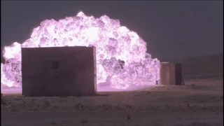 An experiment showing the effects of a 800kg bomb dropped on a fortified wall