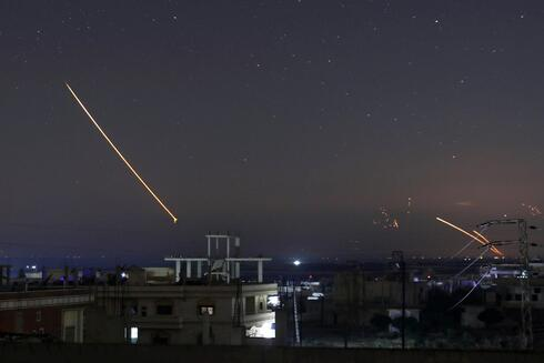 Missile fire is seen over Daraa, Syria, May 10, 2018