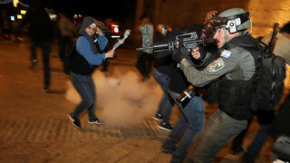 Rioters clashing with police in East Jerusalem