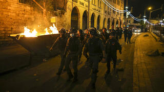 Border Police patrolling Jerusalem in the midst of the riots