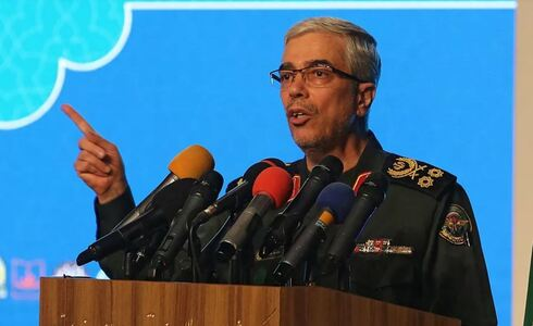 Iranian Armed Forces Chief of Staff Major General Mohammed Hussein Baqeri in Tehran on February 23, 2021
