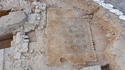 The Byzantine-era mosaic discovered near Yavne