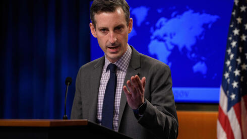 US State Department spokesman Ned Price speaks during the daily press briefing at the State Department in Washington, DC