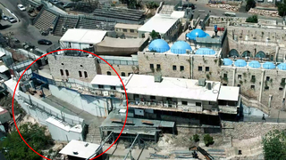 An aerial photograph of the Mount Meron compound taken before 45 people were killed in a stampede on Thursday night